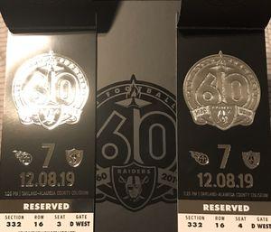 Raiders vs Titans for Sale in Modesto, CA