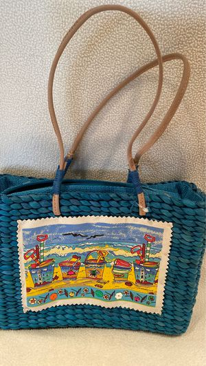 Straw beach purse for Sale in Tempe, AZ