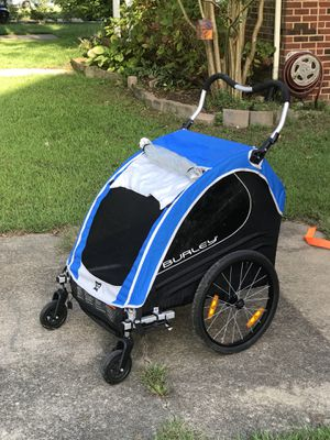 Burley Encore Double Bike Trailer w/ Stroller Wheels for Sale in Virginia Beach, VA