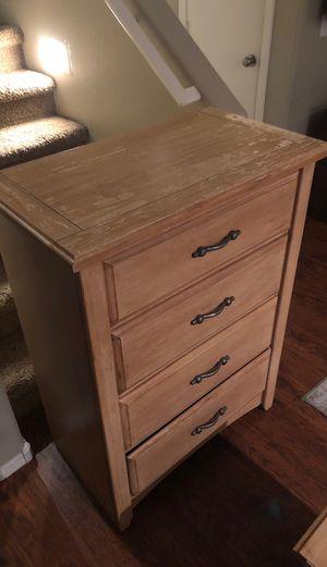 Wooden dresser and nightstand for Sale in Phoenix, AZ
