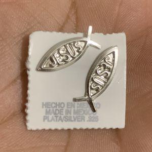 Jesus Sterling Silver Earrings for Sale in Las Vegas, NV