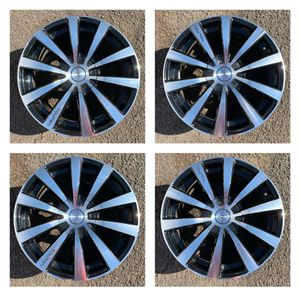 Touren 18 inches (18x8) black machined rims for Sale in Philadelphia, PA