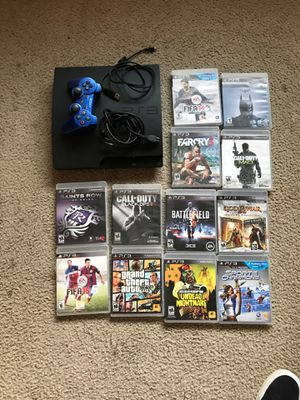 PS3 with games and controller for Sale in Los Angeles, CA