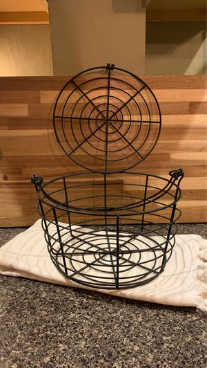 Black wire basket for Sale in Portsmouth, RI