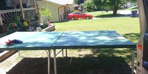 Ping pong ball table with net and balls No paddles for Sale in Neosho, MO