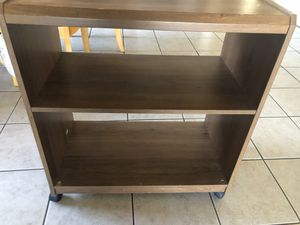 Microwave cart or shelving unit on wheels for Sale in San Jose, CA