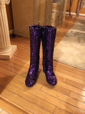 Purple Sequins Boots for Sale in Washington, DC