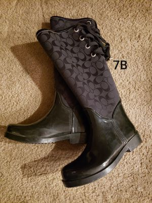 Weather/rain boots by Coach size 7b for Sale in Las Vegas, NV