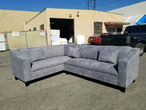 NEW 7X9FT GIBSON GRAPHITE FABRIC SECTIONAL COUCHES for Sale in Pomona, CA