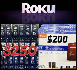 "55"" TCL HDR SMART TV ROKU 4K for Sale in Las Vegas, NV"