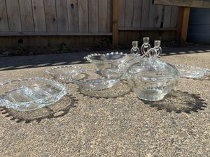 9 Piece A.H. Heisey LARIAT Crystal Glassware for Sale in Portland, OR