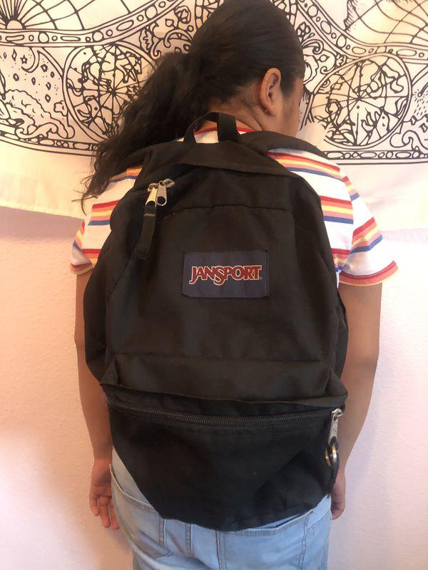 black classic jansport backpack