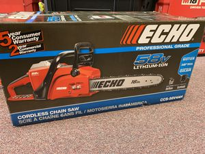 New Echo 58v Battery Chainsaw 16in Kit. CCS58V4AH for Sale in Waltham, MA