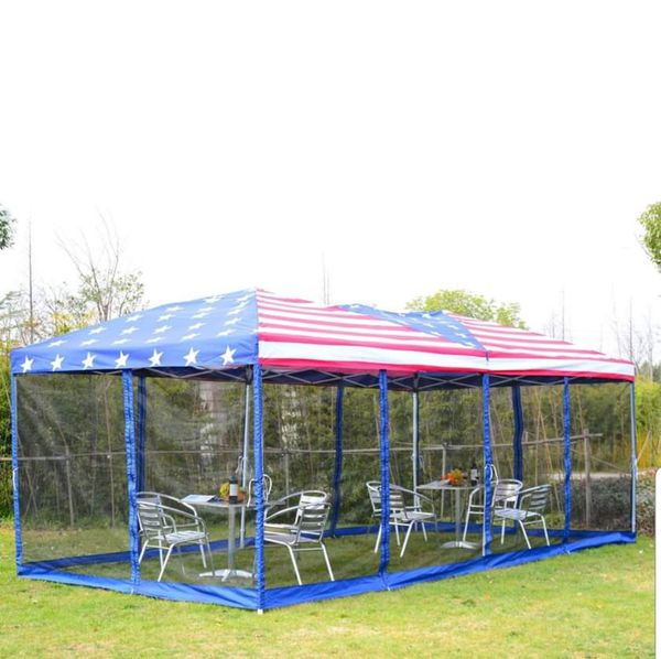 Patriotic 4 of July Gazebo Pop up Party Tent 10' x 20' Party Outdoor Garden