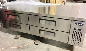 """72"""" four drawer refrigerated equipment stand chef base commercial cooler for Sale in Kent, WA"""