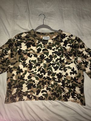 Cropped camouflage converse sweater for Sale in West Springfield, VA