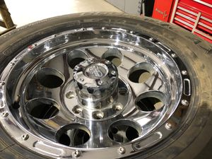 Chevy gmc 8 lug 10 ply tires and wheels for Sale in Hanford, CA