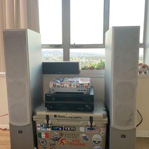 ٭PIONEER RECEIVER W/ 2 DIGITAL AUDIO STANDING SPEAKERS + JAMO MONITOR٭ for Sale in Los Angeles, CA