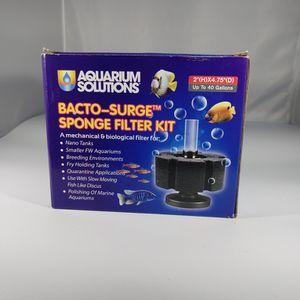 Aquarium Solutions bacto surge sponge filter kit for Sale in Las Vegas, NV