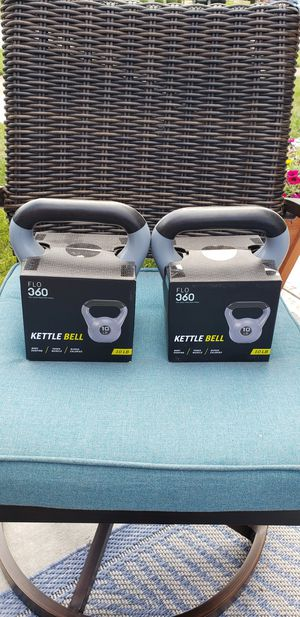 2 10lbs Kettlebell 20lbs Total $40 (New) for Sale in Chicago, IL