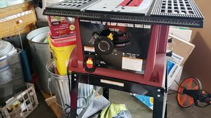 Chicago electric 10 inch table saw with stand for Sale in Marlborough, MA