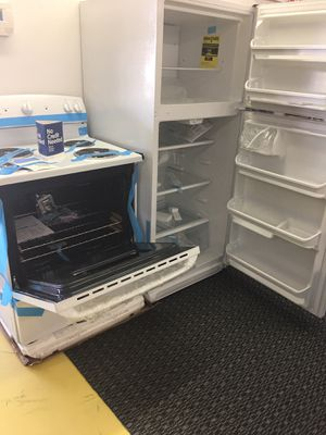 Brand New SET Refrigerador And Electric Stove White Color With Warranty No Credit Needed for Sale in Garland, TX