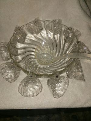Punch bowl and cups for Sale in Vidalia, GA