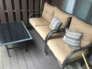 "3 chairs and a table Patio set used ""Must Go!!! Items will no longer be available after thanksgiving. for Sale in Manchester, CT"