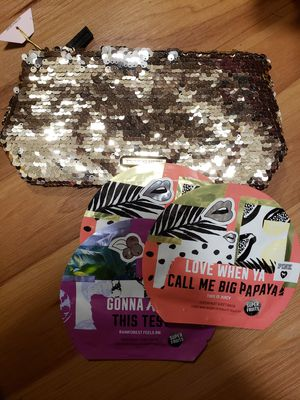 VS Sequined Bag and VS Pink Face Masks for Sale in Bellevue, WA