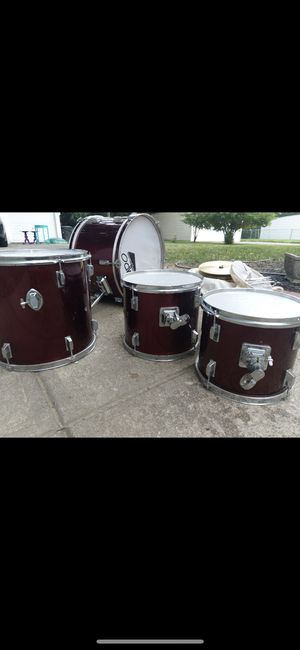 Drum set with stool, cymbals and sticks for Sale in University Heights, OH