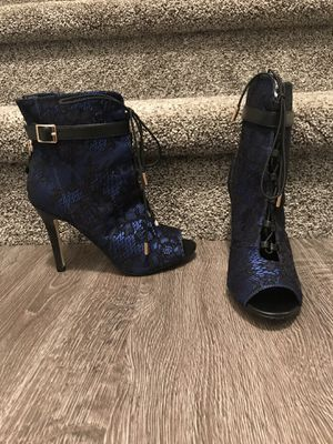 Blue/Black lace booties for Sale in Springfield, VA