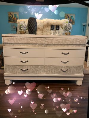 The most beautiful milky vintage dresser credenza for Sale in Albuquerque, NM