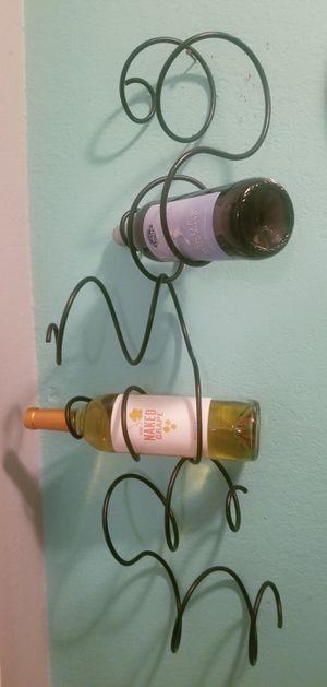 Black Iron Swirl Design Wine Bottle Holder...2 ft tall..Like New! for Sale in Modesto, CA