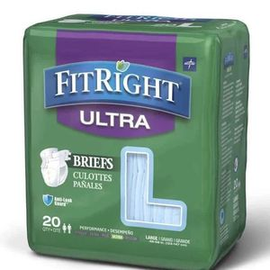 Fit Right Adult Diapers Briefs LARGE for Sale in Glendale, AZ