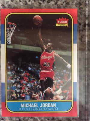 1986 Fleer Michael Jordan rookie 57 baseball basketball football collector cards for Sale in Franklin, TN