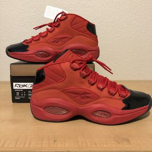 Reebok Question Mid Iverson Heart Over Hype SZ 12 Iversons Deadstock for Sale in Arlington, TX