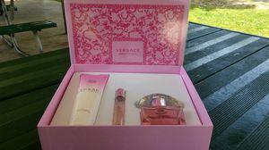 Original perfume bright cristal 3pcs set big size by versace for Sale in Rialto, CA
