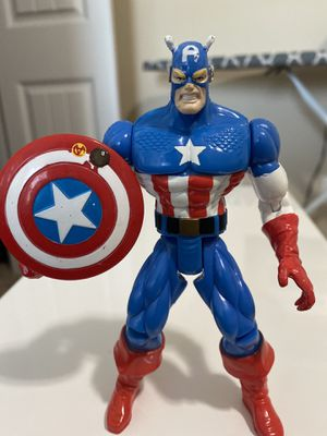 Marvel Captain America Figure Toy Biz 1996 6in (Small Rusted Area On Shield) for Sale in Fayetteville, NC