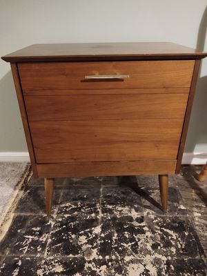 Mid century record cabinet table mcm for Sale in Denver, CO