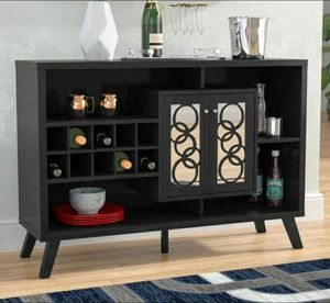 Gorgeous Wine Cabinet in Black Finish for Sale in Chino, CA
