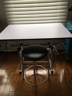 Art/craft table with stool adjustable top for Sale in Exeter, RI