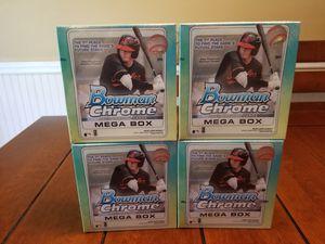 Topps Bowmen Chrome baseball mega box 4x for Sale in Duncan, SC