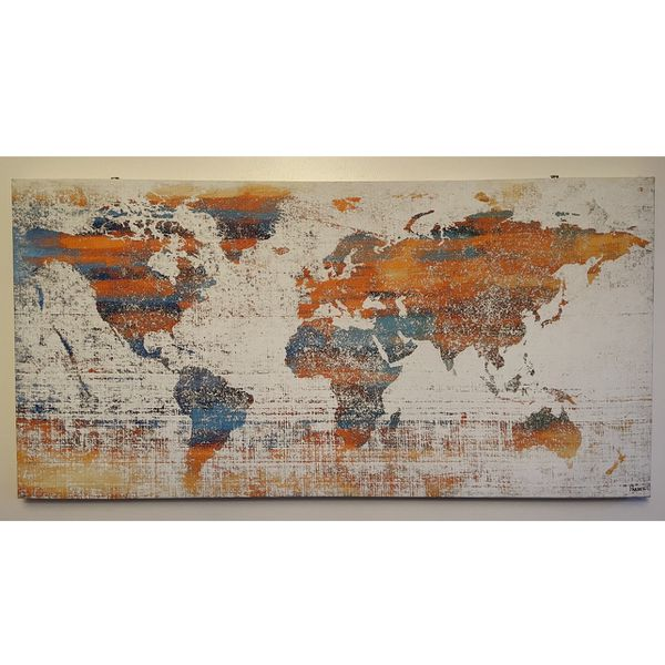 Wall Poster World Map Canvas Print