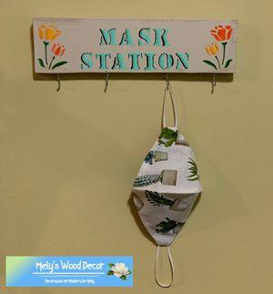 Percheros personalizados para mascarillas 😷Personalized mask racks 😷 for Sale in Chino, CA