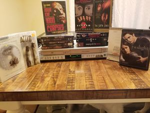 Dvd vcr player with movies for Sale in Port St. Lucie, FL