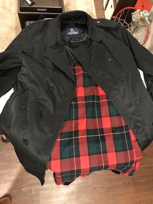 Black Trench Coat Long Size R44 for Sale in Cleveland, OH