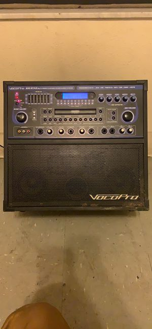 Vocopro gig star entertainment system for Sale in Largo, FL