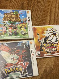 Nintendo 3DS Games Bundle Pokemon Animal Crossing for Sale in Stanford,  CA