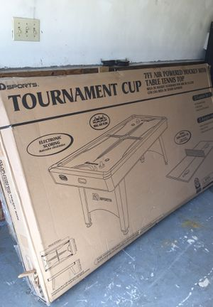 Air hockey table with tennis top for Sale in Chesapeake, VA