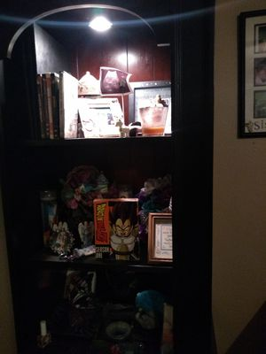 3 level light up book shelf with cabinets for Sale in Arlington, TX
